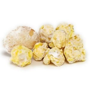 Banana Pudding flavored popcorn will remind you of the classic banana pudding dessert.