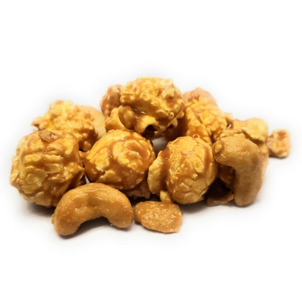 A nutty caramel popcorn that contains our classic caramel popcorn combined with cashew nuts.