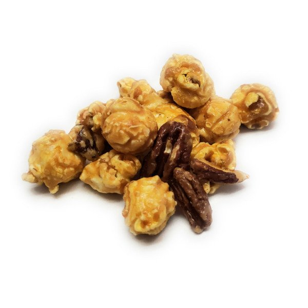 A nutty caramel popcorn that contains our classic caramel popcorn combined with pecan nuts.