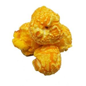 Cheddar Cheese Popcorn is made with jumbo size mushroom popcorn and premium cheese that contains 0g Trans Fat give it an A-Maize-N cheese flavor